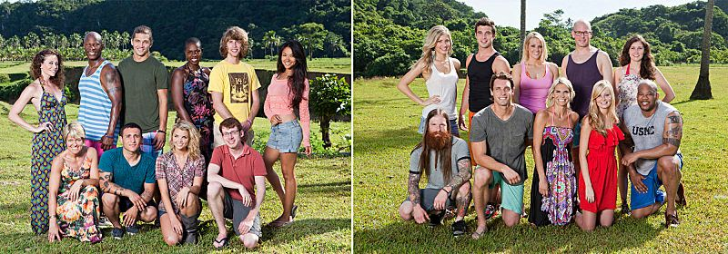 """The Bikal Tribe (Favorites) and the Gota Tribe (Fans) are set to compete in """"Survivor: Caramoan -- Fans Vs. Favorites"""" when t"""