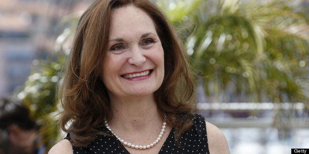 US actress Beth Grant smiles on May 20, 2013 while posing during a photocall for the film 'As I Lay Dying' presented in the U