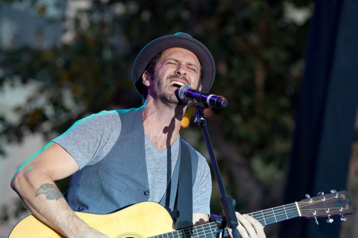 LOS ANGELES, CA - JULY 25:  Musician Tony Lucca of NBC's 'The Voice' performs at the Summer Concert Series at The Grove on Ju