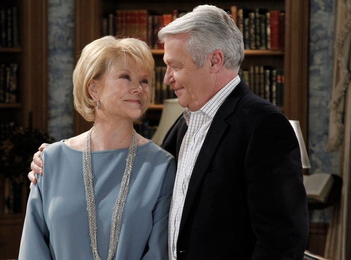 ONE LIFE TO LIVE - Erika Slezak (Viki) and Jerry verDorn (Clint) in a scene that airs the week of January 9, 2012 on ABC Dayt