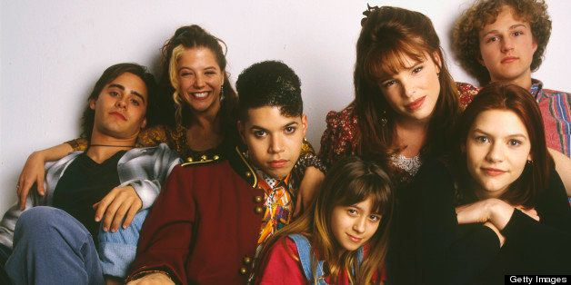 UNITED STATES - AUGUST 25:  MY SO-CALLED LIFE - gallery - 8/25/94, Claire Danes (second from right) played Angela Chase, a 15