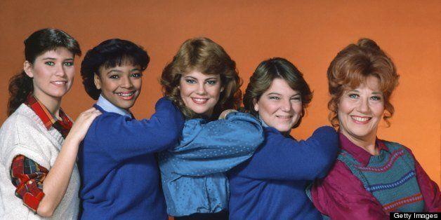 THE FACTS OF LIFE -- Season 5 -- Pictured: (l-r)   Nancy McKeon as Joanne 'Jo' Polniaczek, Kim Fields as Dorothy 'Tootie' Ram