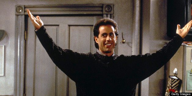 SEINFELD -- 'The Blood' Episode 4 -- Pictured: Jerry Seinfeld as Jerry Seinfeld  (Photo by Joey Delvalle/NBC/NBCU Photo Bank