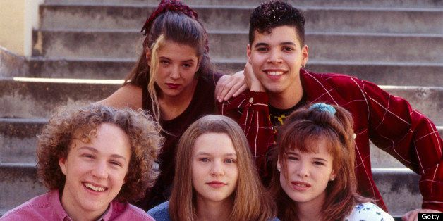 UNITED STATES - AUGUST 25:  MY SO-CALLED LIFE - pilot - 8/25/94, Claire Danes (bottom center) played Angela Chase, a 15-year-