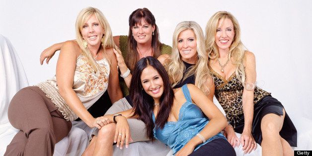 THE REAL HOUSEWIVES OF ORANGE COUNTY -- Season 1 -- Pictured: (l-r) Vicki Gunvalson, Jeana Keough, Lauri Waring, Kimberly Bry