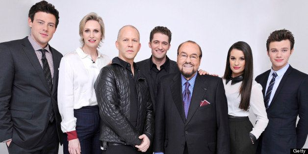 INSIDE THE ACTORS STUDIOS -- 'The Cast of Glee' -- Pictured: (l-r) Cory Monteith, Jane Lynch, creator Ryan Murphy, Matthew Mo
