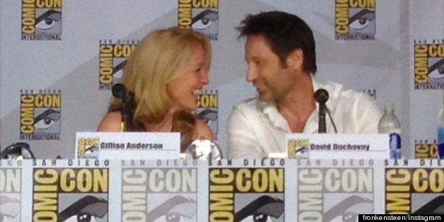 The X Files Reunion At Comic Con Gillian Anderson David Duchovny On Sex A Third Movie And More