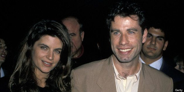Kirstie Alley and John Travolta at the Academy Theater in Beverly Hills, California (Photo by Jim Smeal/WireImage)