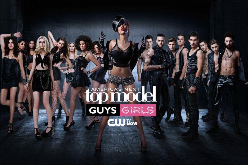 From left to right: Jiana, Kanani, Renee, Nina, Jourdan, Alex, Chlea, Bianca, Judge Tyra Banks, Jeremy, Don, Chris H., Mike,