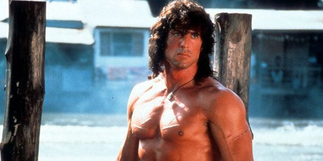 Sylvester Stallone in a scene from the film 'Rambo III', 1988. (Photo by TriStar/Getty Images)