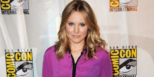 SAN DIEGO, CA - JULY 19:  Actress Kristen Bell appears at the 'Veronica Mars' special video presentation and Q&A during Comic
