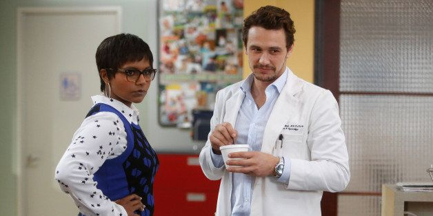 THE MINDY PROJECT: James Franco (R) and Mindy Kaling in the 'All My Problems Solved Forever' season premiere episode of THE M