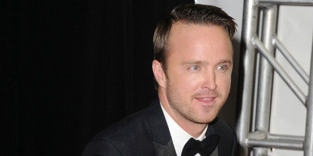 LOS ANGELES, CA - SEPTEMBER 22:  Actor Aaron Paul poses in the press room during the 65th Annual Primetime Emmy Awards held a