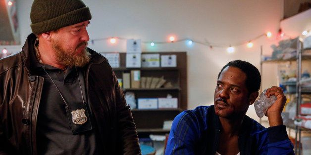 Ironside -- 'Action' Episode 105 -- Pictured: (l-r) Brent Sexton as Gary, Blair Underwood as Robert Ironside -- (Photo by: Vi