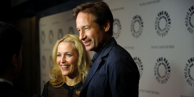 NEW YORK, NY - OCTOBER 12:  (L-R) Gillian Anderson and David Duchovny attend The Truth Is Here: David Duchovny And Gillian An