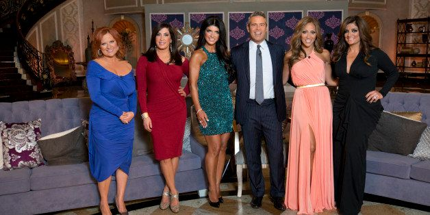 """REAL HOUSEWIVES OF NEW JERSEY -- """"'Reunion' Episode 519 & 520 -- Pictured: (l-r) Caroline Manzo, Jacqueline Laurita, Teresa G"""