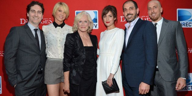 NEW YORK, NY - JUNE 28:  Damages Creator Daniel Zelman, actors Jenna Elfman, Glenn Close and Rose Byrne, and Damages Creators