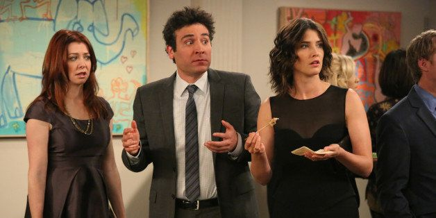 LOS ANGELES - FEBRUARY 7: 'The Ashtray' -- When Ted (Josh Radnor, center) receives an unexpected call from The Captain, the gang reminisced about their last awkward encounter with him, on HOW I MET YOUR MOTHER, Monday, Feb. 18 (8:00-8:30 PM, ET/PT) on the CBS Television Network. Also pictured: Alyson Hannigan (left) and Cobie Smulders (right) (Photo by Richard Cartwright/ CBS via Getty Images)