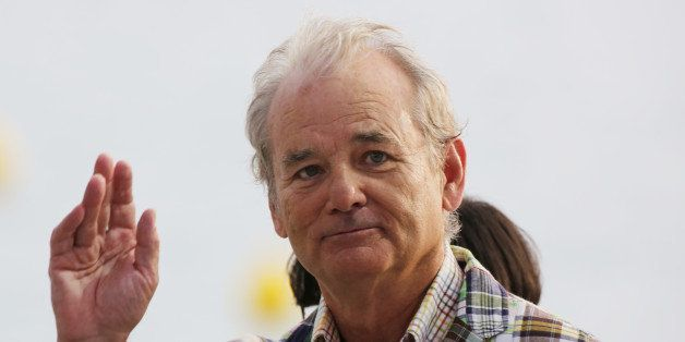 US actor Bill Murray takes part in the TV show 'Le Grand Journal' on the set of French TV Canal+ at the 65th Cannes film fest