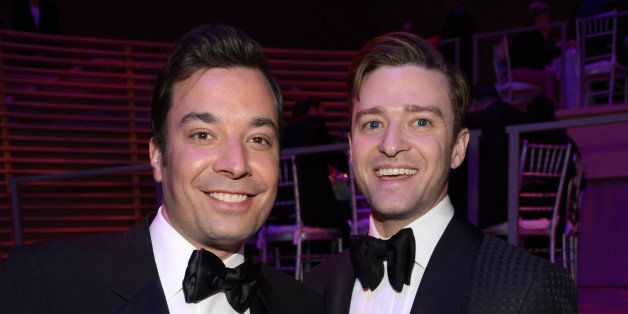 NEW YORK, NY - APRIL 23:  Jimmy Fallon and Justin Timberlake attend TIME 100 Gala, TIME'S 100 Most Influential People In The