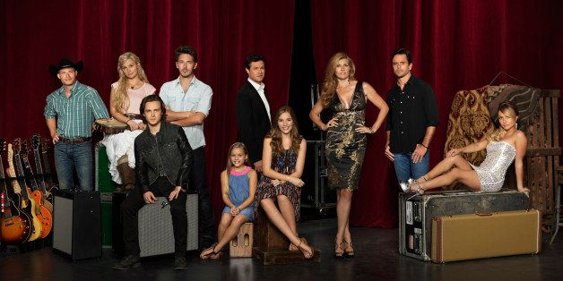 NASHVILLE - ABC's 'Nashville' stars Chris Carmack as Will Lexington, Clare Bowen as Scarlett O'Connor, Jonathan Jackson as Av