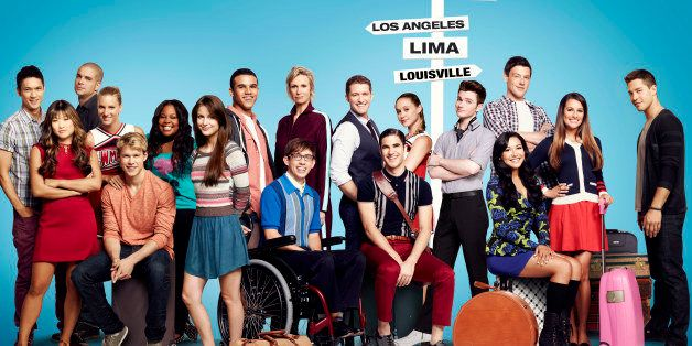 GLEE: (L-R) The cast of 'Glee,' Harry Shum Jr., Jenna Ushkowitz, Mark Salling, Heather Morris, Chord Overstreet, Amber Riley,