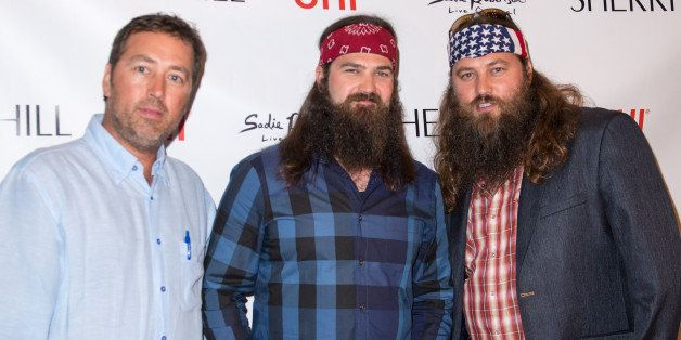 NEW YORK, NY - SEPTEMBER 09:  (L-R) TV personalities Alan Robertson, Jep Robertson and Willie Robertson attend the Evening By