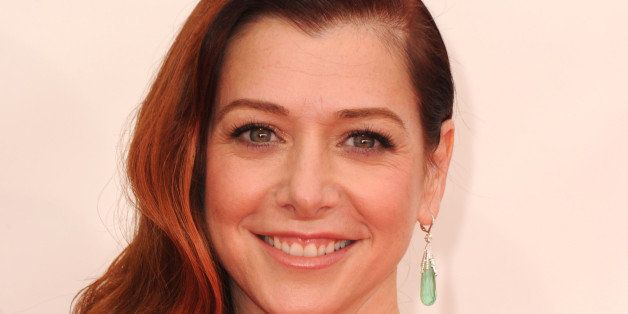 LOS ANGELES, CA - SEPTEMBER 22:  Alyson Hannigan arrives at the 65th Annual Primetime Emmy Awards at Nokia Theatre L.A. Live
