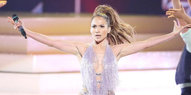 LOS ANGELES, CA - NOVEMBER 24:  Jennifer Lopez performs onstage at the 2013 American Music Awards held at Nokia Theatre L.A.