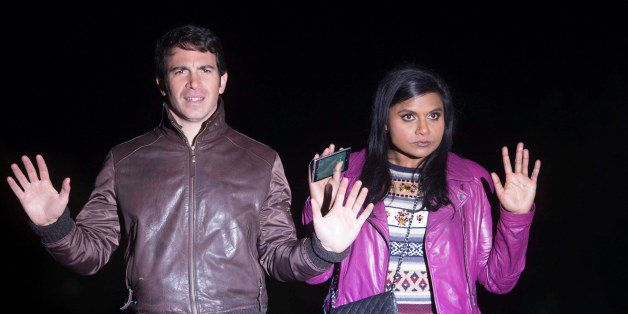THE MINDY PROJECT: Mindy Kaling and Chris Messina (L) in the 'The Desert' episode of THE MINDY PROJECT airing Tuesday, Jan. 2