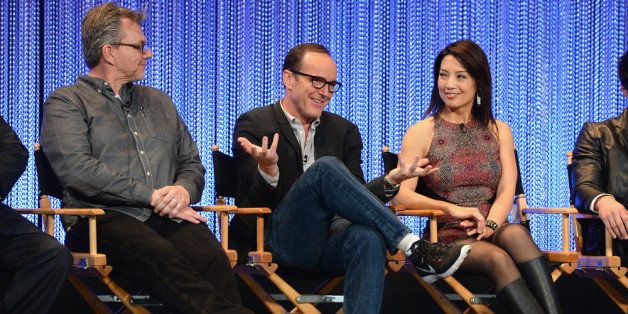HOLLYWOOD, CA - MARCH 23:  Jeffrey Bell, Clark Gregg and Ming-Na Wen attend The Paley Center For Media's PaleyFest 2014 Honor
