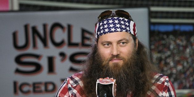 FORT WORTH, TX - MARCH 19:  Duck Commander CEO Willie Robertson speaks during the press conference for the unveiling of 'Big