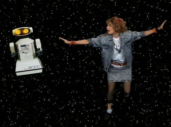 Baker bought Robin Sparkles' robot pal, an Omnibot 2000 made around 1984, on eBay for $512, he said. Baker recently found a s