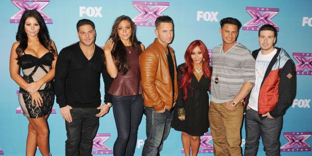 LOS ANGELES, CA - DECEMBER 19: Jersey Shore cast, Jenni 'Jwoww' Farley, Ronnie Ortiz-Magro, Sammi 'Sweetheart' Giancola, Mike