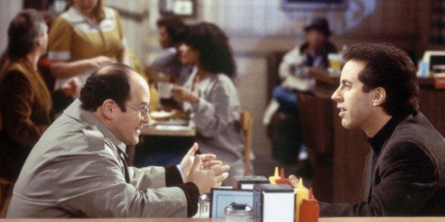 SEINFELD -- 'The Frogger' Episode 18 -- Pictured: (l-r) Jason Alexander as George Costanza,áJerry Seinfeld as Jerry Seinfeld