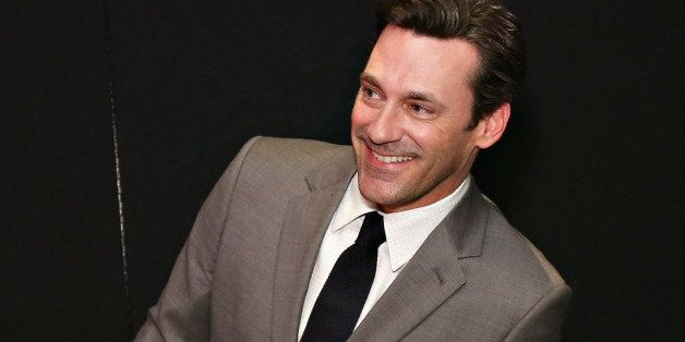 NEW YORK, NY - MAY 09:  Actor Jon Hamm takes gets a first glimps of his Madame Tussauds Don Draper wax figure as it is unveil
