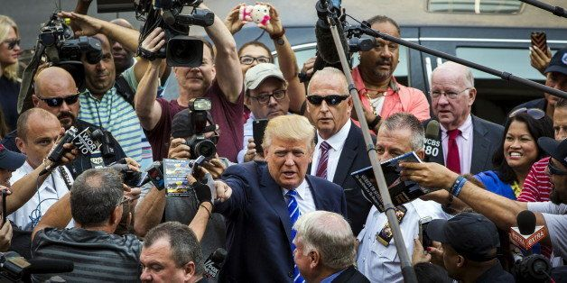 U.S. Republican presidential candidate Donald Trump arrives for jury duty at Manhattan Supreme Court in New York August 17, 2