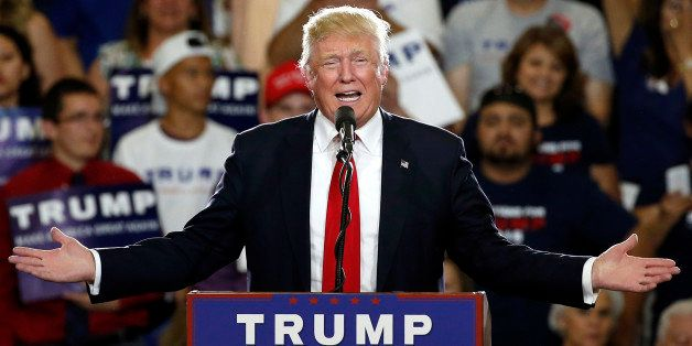 Republican presidential candidate Donald Trump speaks at a campaign event in Albuquerque, N.M., Tuesday, May 24, 2016. (AP Ph