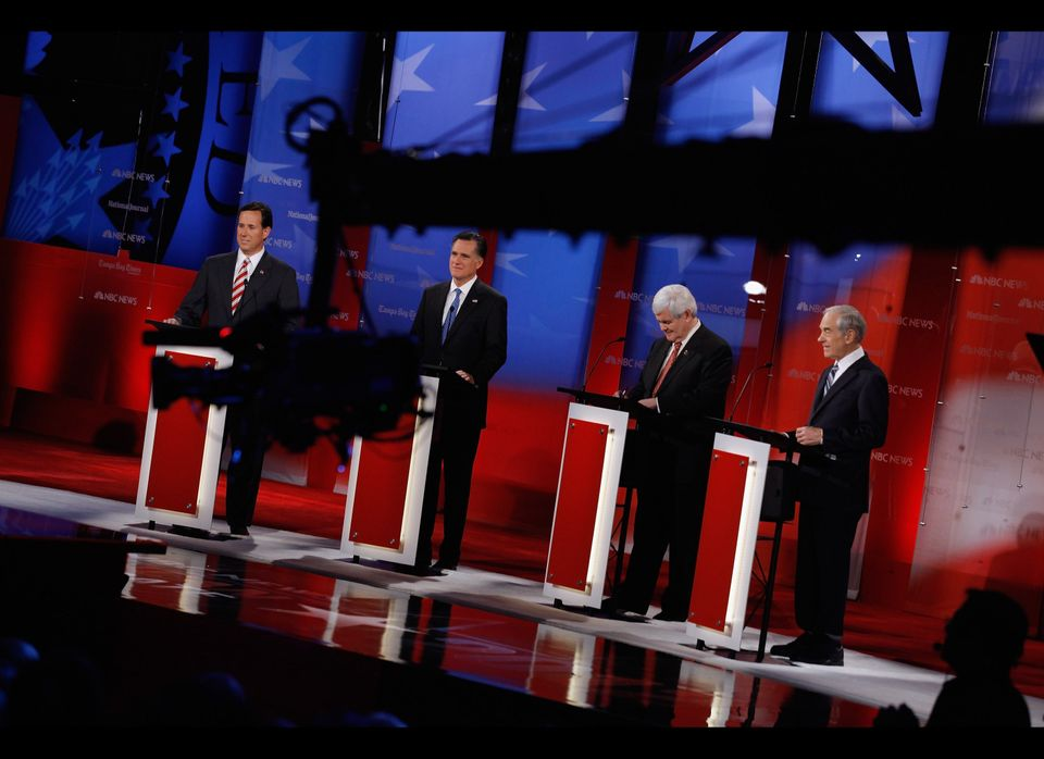 NBC News instructed audience members to hold their applause during the first debate after Newt Gingrich's win in South Caroli