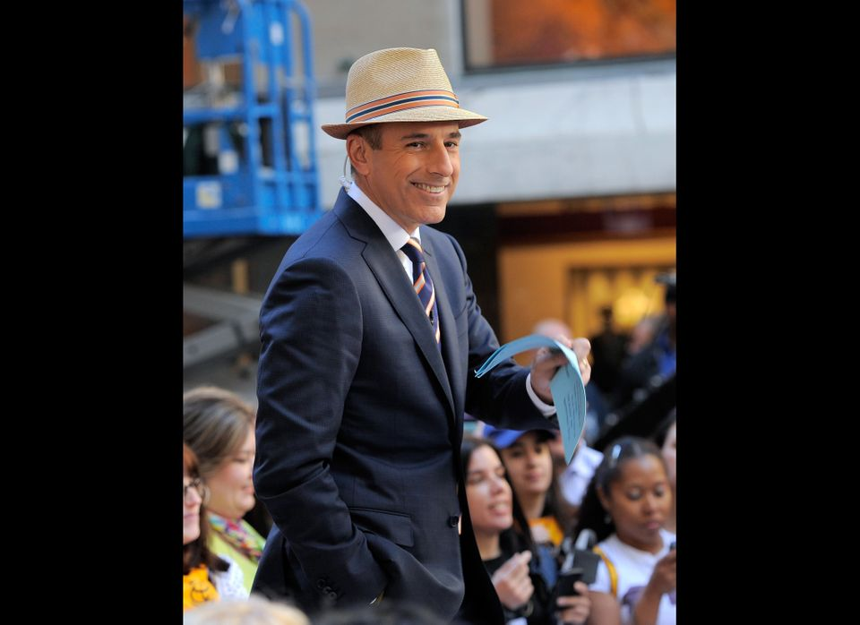 "Lauer co-hosts NBC's ""Today"" from 7-9 a.m."
