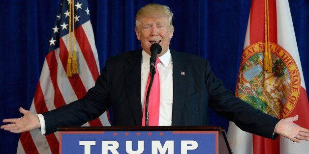 DORAL, FL - JULY 27:  Donald J. Trump holds a press conference at Trump National Doral on July 27, 2016 in Doral, Florida.  (