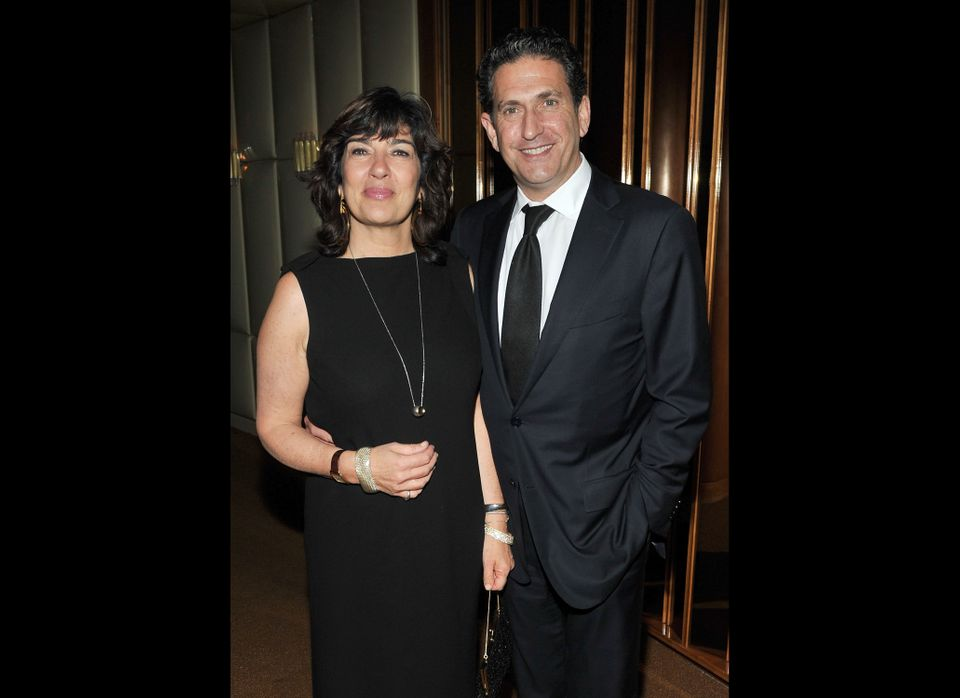 NEW YORK, NY - DECEMBER 05:  Christiane Amanpour and James Rubin attend the after party for the premiere of 'In the Land of B