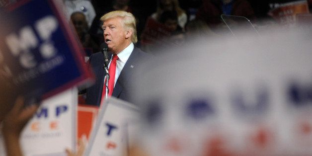Photo by: Dennis Van Tine/STAR MAX/IPx 10/10/16 Donald Trump at a rally at Mohegan Sun Arena in Wilkes-Barre, Pennsylvania.