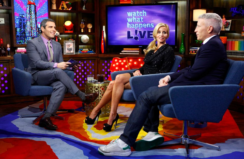 COMMERCIAL IMAGE - In this photograph taken by AP Images for Bravo, from left, host Andy Cohen, reality star Camille Grammer