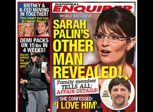 National Enquirer Alleges Sarah Palin Affair With Brad