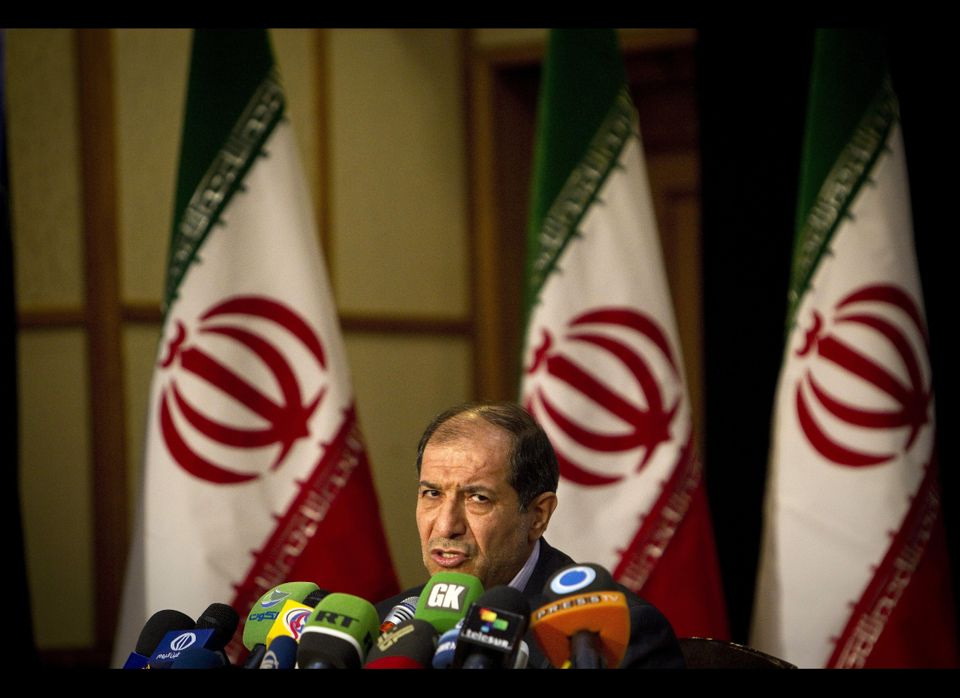 Iranian Interior Minister Mostafa Mohammad Najjar holds a press conference in Tehran on February 29, 2012. Iran's 48 million