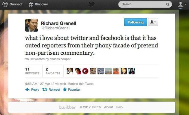 Richard Grenell, New Mitt Romney Spokesman, Scrubs Online Attacks On Media And