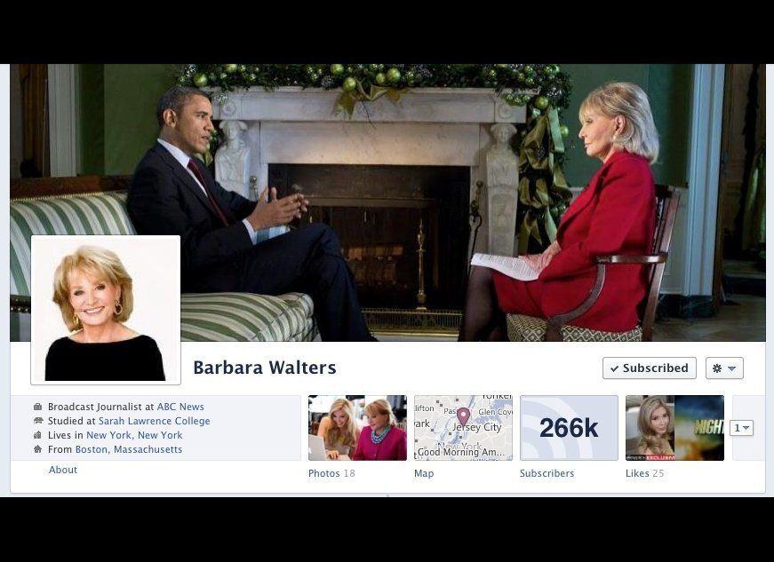 "Co-host of ABC's ""The View,"" host of ""The Barbara Walters Specials""