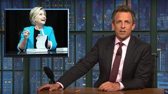 Seth Meyers of Late Night talks about President Donald Trumps concerns about due process