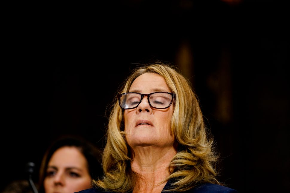 Christine Blasey Ford, a psychology professor, said Brett Kavanaugh drunkenly pinned her down, groped her, tried to undress h
